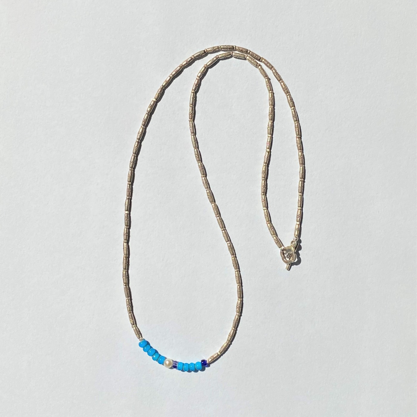Karen Silver Long Necklace